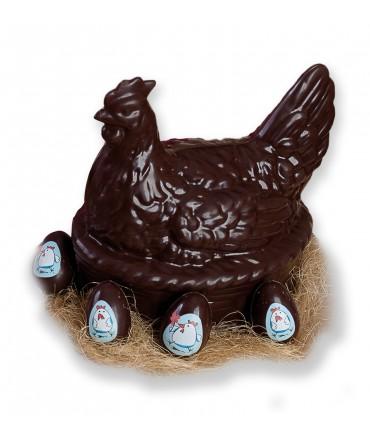 Gallina di cioccolato fondente 600 g
